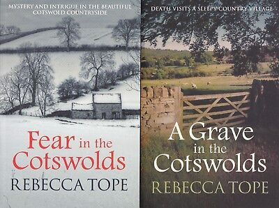 Rebecca Tope Fear In The Cotswolds, A Grave In The Cotswolds, 2 Book Set