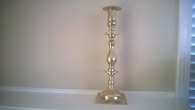 """Vintage Large Brass Candlestick Church Wedding Candle Holder 15.5"""" Tall"""