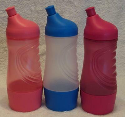 Tupperware 415ml Sports Drink Bottle - Blue & White or Pink or Green- New