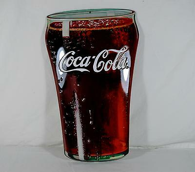 Ande Rooney Tin Sign - Coca Cola Coke Glass Die Cut - New