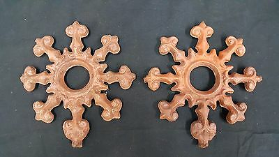 Architectural Salvage Cast Iron Circle Point Finials Set of 2