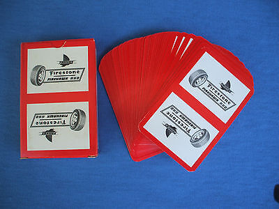 vintage firestone tires racing team  players cards poker ,made in belgium