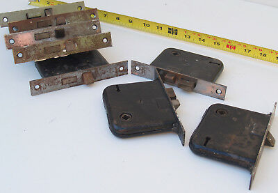 Lot of 8 VINTAGE   BRASS ? MORTISE LOCK privacy bed bath antique ? locks