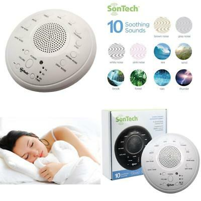 White Noise Relax Machine Sound Spa Baby Easy Sleep Nature Night Peace Therapy