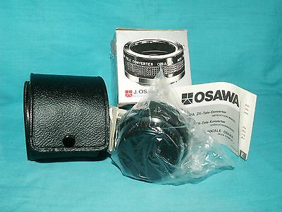 OSAWA 2X Tele Converter Lens for KONICA 35mm Cameras in Case
