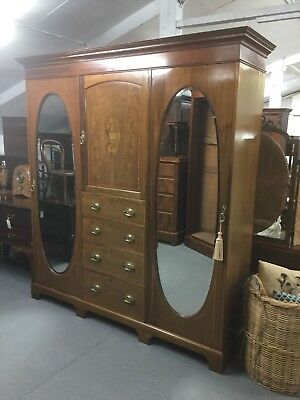 Antique  Inlaid Compactum Wardrobe