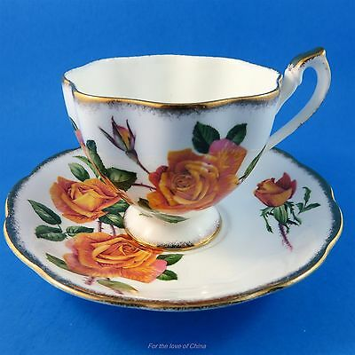 "Pretty Queen Anne ""Anniversary Rose"" Tea Cup and Saucer Set"