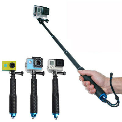 Extendable Selfie Stick Handheld Monopod For GoPro Hero 4 5 6 Balck Sport Camera