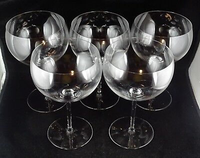 Five Baccarat Crystal Perfection Magum Taster Glasses