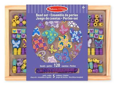 Melissa & Doug Butterfly Friends Wooden Bead Set With 120 Beads for...