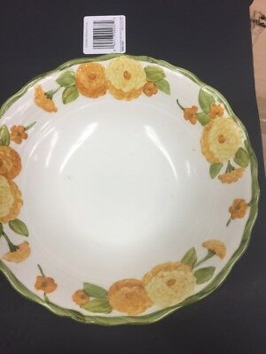 "Metlox/Poppy Trail/Vernon SCULPTURED ZINNIA 8 1/2"" Vegetable Bowl S358049G2"