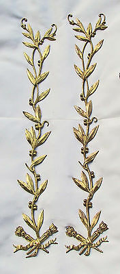 A fine pair of French ORMOLU MOUNTS of Exceptional Length (16+ inches!)