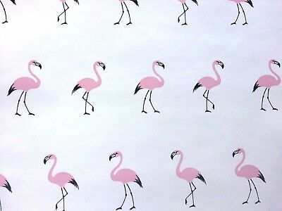 4 Vintage Pink Flamingo Black White Double Rolls Vinyl Coated Prepasted COOL!!