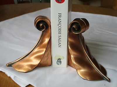 MID CENTURY MODERN PAIR OF 1930's/1940's RARE COPPER BOOKENDS
