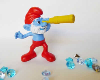 Smurfs 20715 Producer Smurf Megaphone Vintage Movie Toy Figure Film PVC Figurine