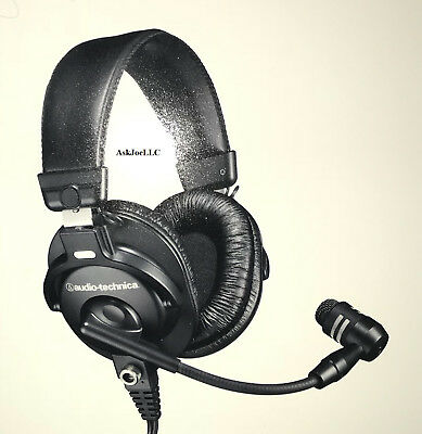 f8b6536331b Audio-Technica BPHS1 Broadcast Stereo Headset with Dynamic Boom Microphone