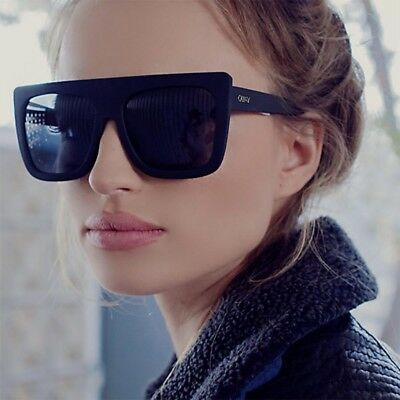 NEW QUAY AUSTRALIA Black CAFE RACER Oversized Square Sunglasses SALE