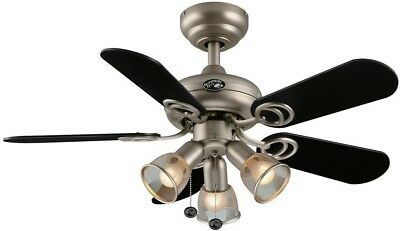 Hampton bay san marino 36 in brushed steel ceiling fan 11430 indoor brushed steel ceiling fan 36in w led light kit 3 speed settings home aloadofball Image collections