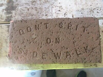 Don't Spit on the Sidewalk Brick - Americana