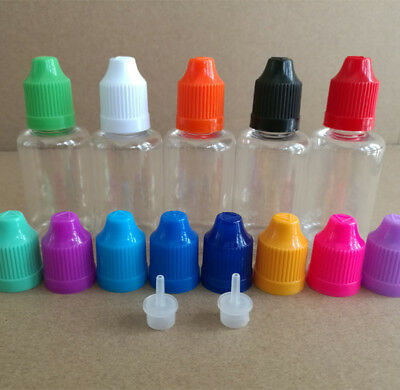 Childproof Dropper Bottle 30ml Squeezable Tip LDPE PET Drop Liquid NEW