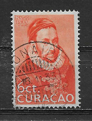 CURACAO , NETHERLANDS ANTILLES , 1933 , 6c STAMP  , PERF , USED