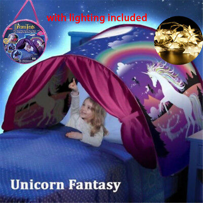 UNICORN FANTASY Magical Dream Tents As Seen on TV Folding Indoor Play Bed Tent