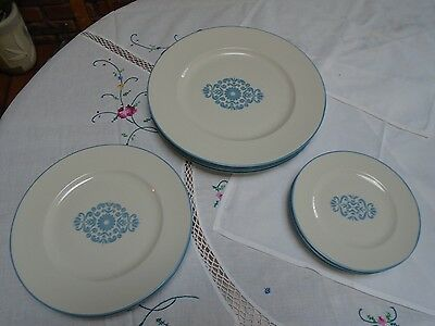 Franciscan China Medallion Blue 12 pc. set Vintage