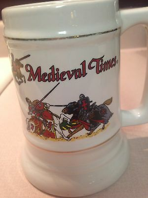 """Beer Mug Stein Tankard Cup Shanty Hand Decorated in USA Medieval Times 6"""" Tall"""