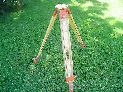 "Vintage Wooden Pentax Surveyor's Wood Transit Tripod - ""Carl Zeiss Jena Style"""