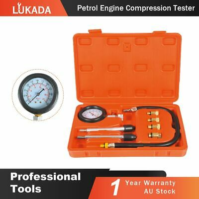 LUKADA Petrol Engine Compression Tester Kit Set For Automotives Car Motorcycles