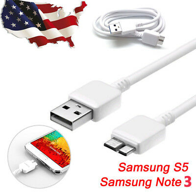 Original OEM Samsung Galaxy Note3 S5 USB 3.0 Data Sync Micro Cable Charger US