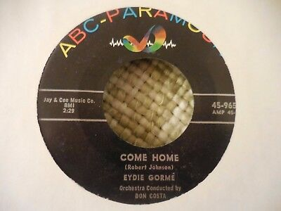 Eydie Gorme==Come Home  B/w  Sincerely Yours==45== Vg+