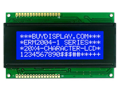 5V Blue 20x4 Character LCD Module Display w/Tutorial,HD44780,White Backlight