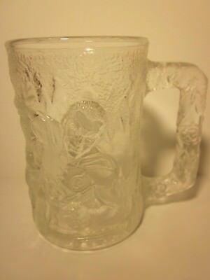 "Robin 4"" Glass Mug Batman Forever Embossed Frosted 1995 McDonalds DC Comics Cup"