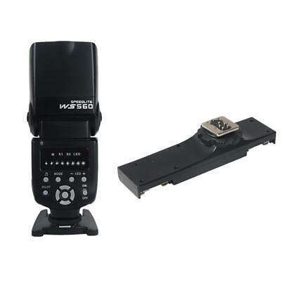 WS-560 Flash Speedlite avec Double Support de Montage à Griffe pour DSLR