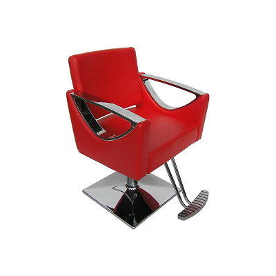Fauteuil Coiffure Messina Rouge