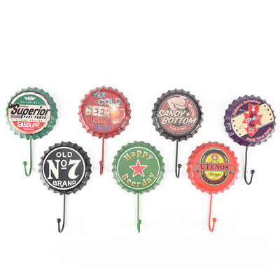 retro metal sign tin beer bottle cap cover hook pub bar club cafe home wall TK