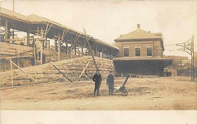 Haverhill MA Building The Railroad Station Train Depot RP Postcard