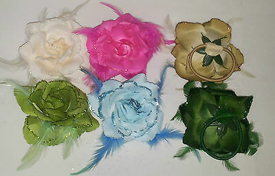 Flower Hair Accessories Hair Band Brooch Clip Wrist Corsage Fascinator Colours*