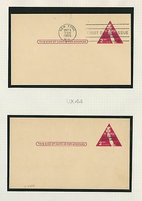 United States Collection of Postal Cards, Lot of 24, UX44//UX56