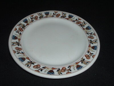 """Shenango China Restaurant Ware 7"""" Plate M. O'neil Co. Blue Floral Brown Seed Pod"""