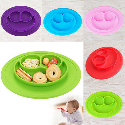 Baby Kids Cute Silicone Mat Suction Table Food Tray Placemat Plate Bowl