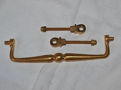 Large Solid Brass Letterbox Letter Box  Striker Arm Knocker And Fixings