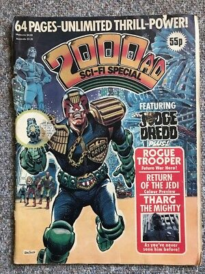 2000 AD Monthly Sci-fi Special 1983Judge Dredd Comic Return Of The Jedi