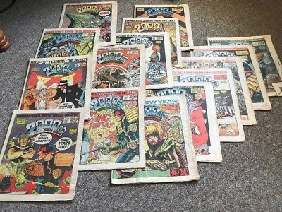 Collection of early 15 X 1980s 2000AD, Judge Dredd Comics, 1983- 1987