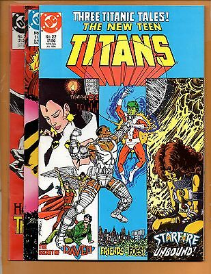 The New Teen Titans #22 23 & 24 2nd series VF/NM to NM