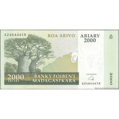 MADAGASCAR   2000   ARIARY  2008   Serie B...W    P 90b  Uncirculated Banknotes