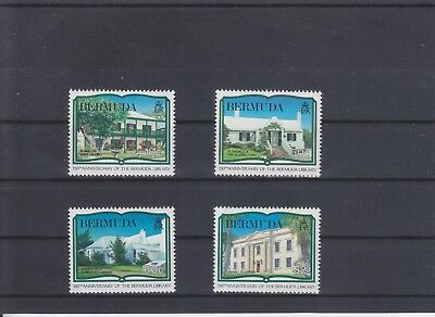Bermudas, 150 years national library aus 1989, complete set MNH