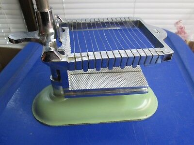 Vintage 1940's BICO USA  Butter & Cheese Slicer-Cutter Heavy Metal Green