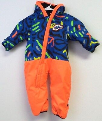 233cdba74 Quiksilver Little Rookie Baby Snow Suit Animal Party Blue Baby Boys 0-24m